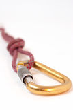 Carabiner and rope Stock Images