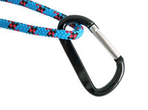 Carabiner and rope Stock Image