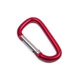 Carabiner rouge d'isolement Image libre de droits