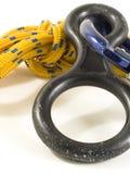 Carabiner und Seil mit DOF stockfotografie