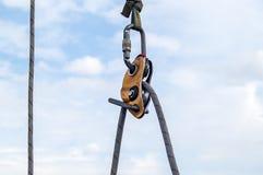Carabiner voor alpinisme Royalty-vrije Stock Foto