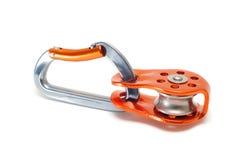 Carabiner z pulley zdjęcia royalty free
