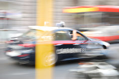 Carabineri. The Italian Police in high speed action! This picture was taken in Rome, Italy royalty free stock photo