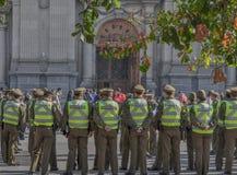 Carabineros, αστυνομικοί της Χιλής στοκ εικόνες