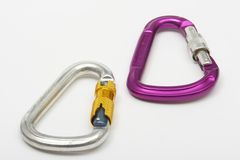 Carabiners Images stock