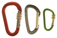 Carabiners Photographie stock