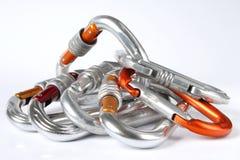 Carabiners de escalada Imagem de Stock