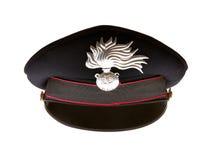 Carabiniere hat of italian carabinieri Stock Images