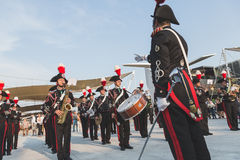 Carabinieri brass band performing at Expo 2015 in Milan, Italy Royalty Free Stock Photo
