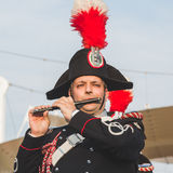 Carabinieri brass band performing at Expo 2015 in Milan, Italy Royalty Free Stock Photos