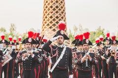 Carabinieri brass band performing at Expo 2015 in Milan, Italy Royalty Free Stock Image