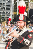 Carabinieri brass band performing at Expo 2015 in Milan, Italy Royalty Free Stock Photography