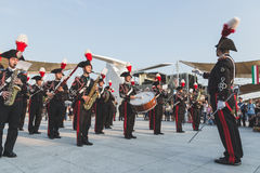 Carabinieri brass band performing at Expo 2015 in Milan, Italy Stock Image
