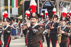Carabinieri brass band performing at Expo 2015 in Milan, Italy Stock Photos