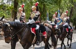 Carabinieri corazzieri parade Stock Image