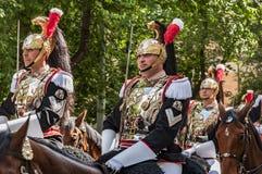 Carabinieri corazzieri parade Stock Photos