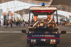 Carabinieri at Expo 2015 in Milan, Italy Royalty Free Stock Photography