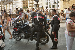 Carabinieri in Florence on Ponte Vecchio Royalty Free Stock Image