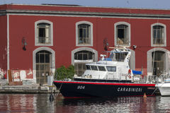 Carabinieri 804 Gapofalo Boat in Naples Bay Stock Photos