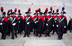 Carabinieri parade in Rome Stock Photography