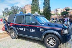 Carabinieri in Piazza del Colosseo Fotografia Stock Libera da Diritti