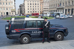 Carabinieri in Piazza Venezia Royalty Free Stock Photography