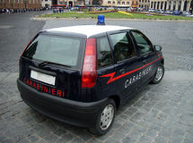 Carabinieri Police. Patrol Car from the Carabinieri Police in Rome (Italy Royalty Free Stock Photography