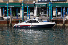 Carabinieri Police Boat in Venice Stock Photos