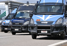 Carabinieri police cars Royalty Free Stock Image