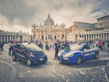 Carabinieri and Police in front of the Vatican City in Rome royalty free stock photography