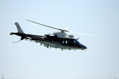 Carabinieri's helicopter. A Carabinieri's helicopter in the blu sky Royalty Free Stock Photo