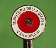 Carabinieri sygnalizacyjny dysk w Mediolan Obraz Royalty Free
