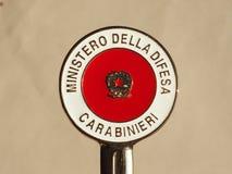 Carabinieri sygnalizacyjny dysk w Mediolan Zdjęcia Stock