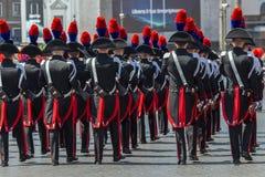 Carabinieri troops participating at military parade of Italian N Stock Images