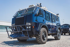 Carabinieri vehicle at Militalia in Milan, Italy Stock Photography