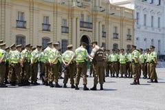 Carabiniers av Chile på Santiago de Chile, Chile Fotografering för Bildbyråer