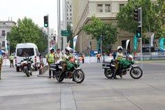 Carabiniers av Chile på Santiago de Chile, Chile Arkivfoto
