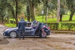 Carabiniers bij het Park van Villaborghese, Rome, Italië Royalty-vrije Stock Fotografie