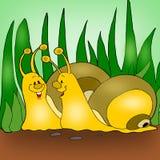 Caracóis Animated ilustração do vetor