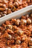 Caracóis cozinhados Imagens de Stock