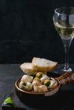 Caracóis prontos para comer de Escargot de Bourgogne imagem de stock