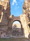 Caracalla巴恩在罗马,意大利 库存图片