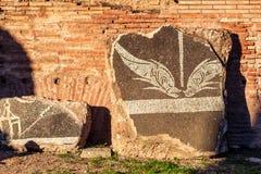 Caracalla浴的装饰的细节在罗马 库存图片