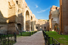 Caracalla巴恩的废墟在罗马,意大利 免版税库存图片