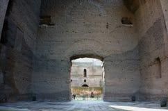 Caracalla bad i Rome Arkivbild