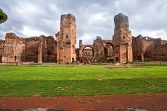 Caracalla ` s上升暖流浴 库存图片