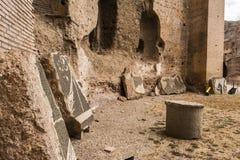 Caracalla - Terme di Caracalla浴的废墟  库存照片