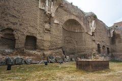 Caracalla - Terme di Caracalla浴的废墟  库存图片