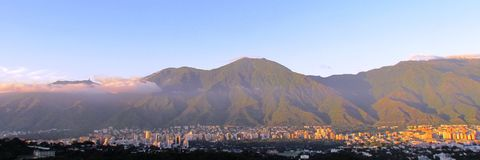 Caracas and Avila mountain Royalty Free Stock Images