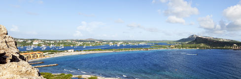 Caracas bay and Spanish Waters Panorama Royalty Free Stock Photography